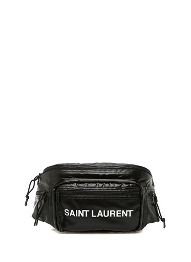 Saint Laurent Saint Laurent  Logo Baskılı Erkek Bel Çantası 101539266 Siyah